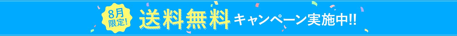 8月限定!送料無料キャンペーン実施中!!