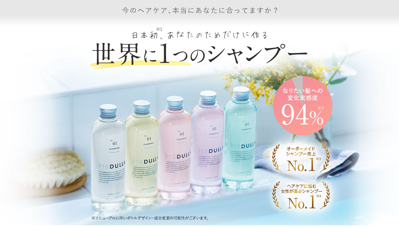 MEDULLA(メデュラ) 日本初、あなたのためだけに作る世界に1つのシャンプー