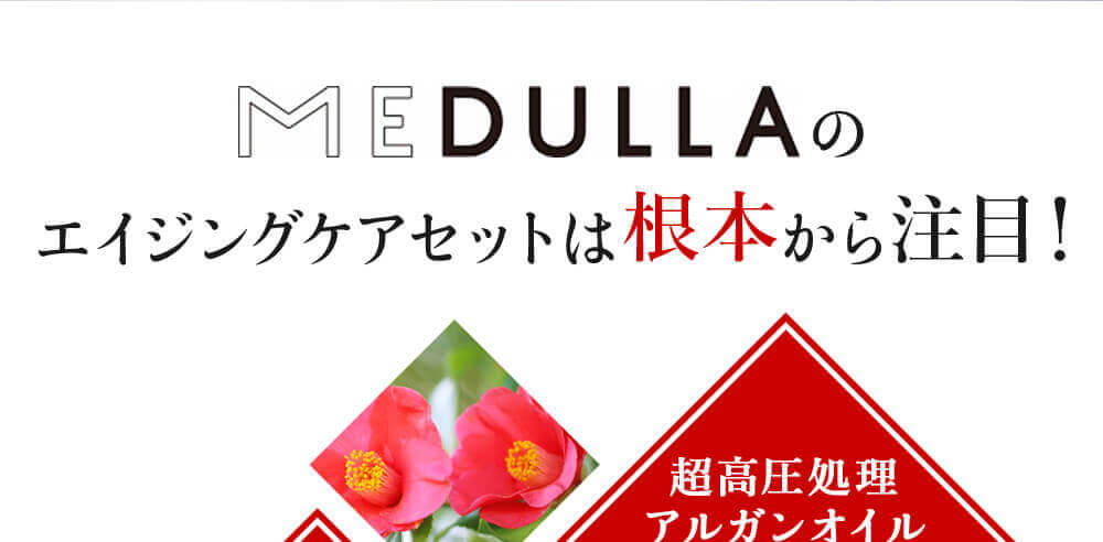 MEDULLAのエイジングセットは根本から注目