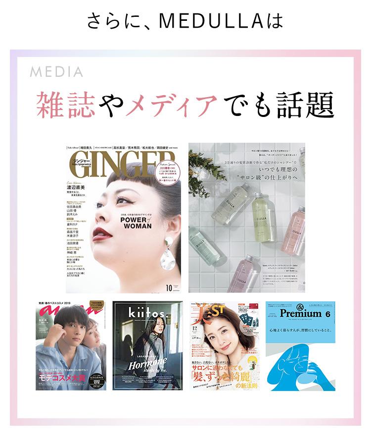 さらに、MEDULLAは MEDIA 雑誌やメディアでも話題