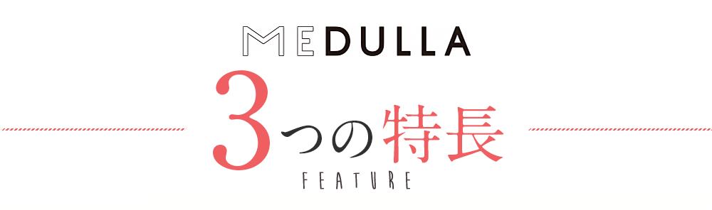 MEDULLA 3つの特長