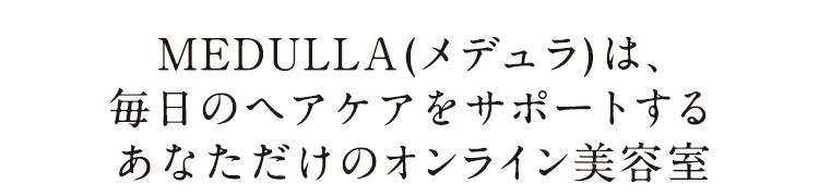 MEDULLA(メデュラ)は毎日のヘアケアをサポートするあなただけのオンライン美容室