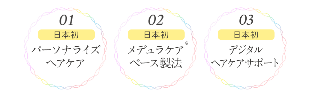 日本初 パーソナライズヘアケア